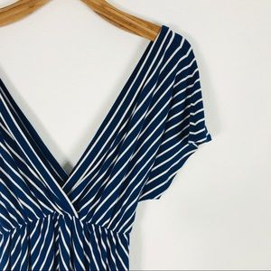 J. Crew Dresses - J crew deep v neck stripped dress